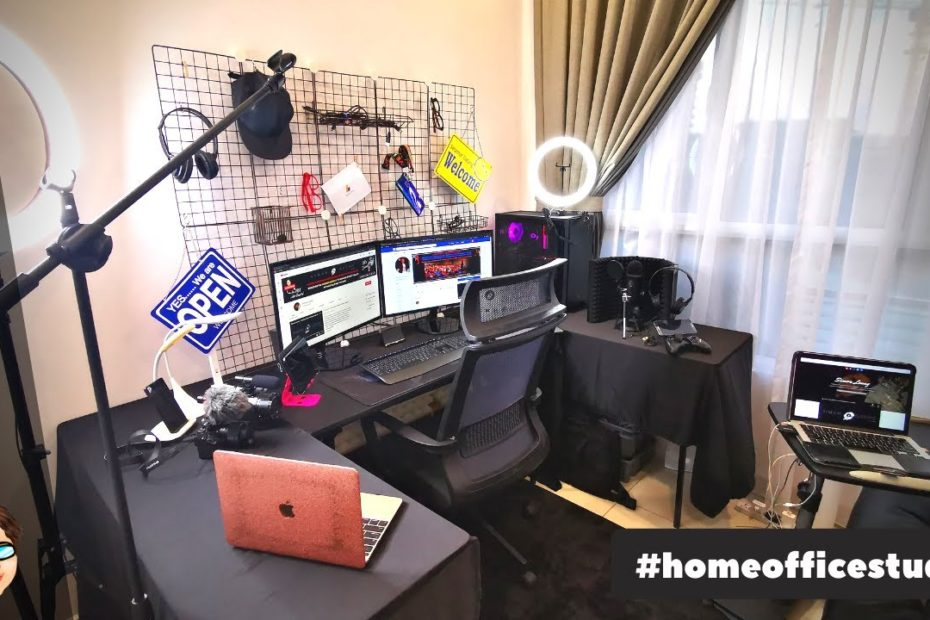Home Office Studio VLOG: How To Set Up A Productive Workspace (For Online Business & YouTube Videos)